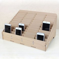 Mdf Mobile Phone Store Rack Laser Cut Free Vector