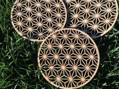 Wooden Trivet Asanoha DXF File