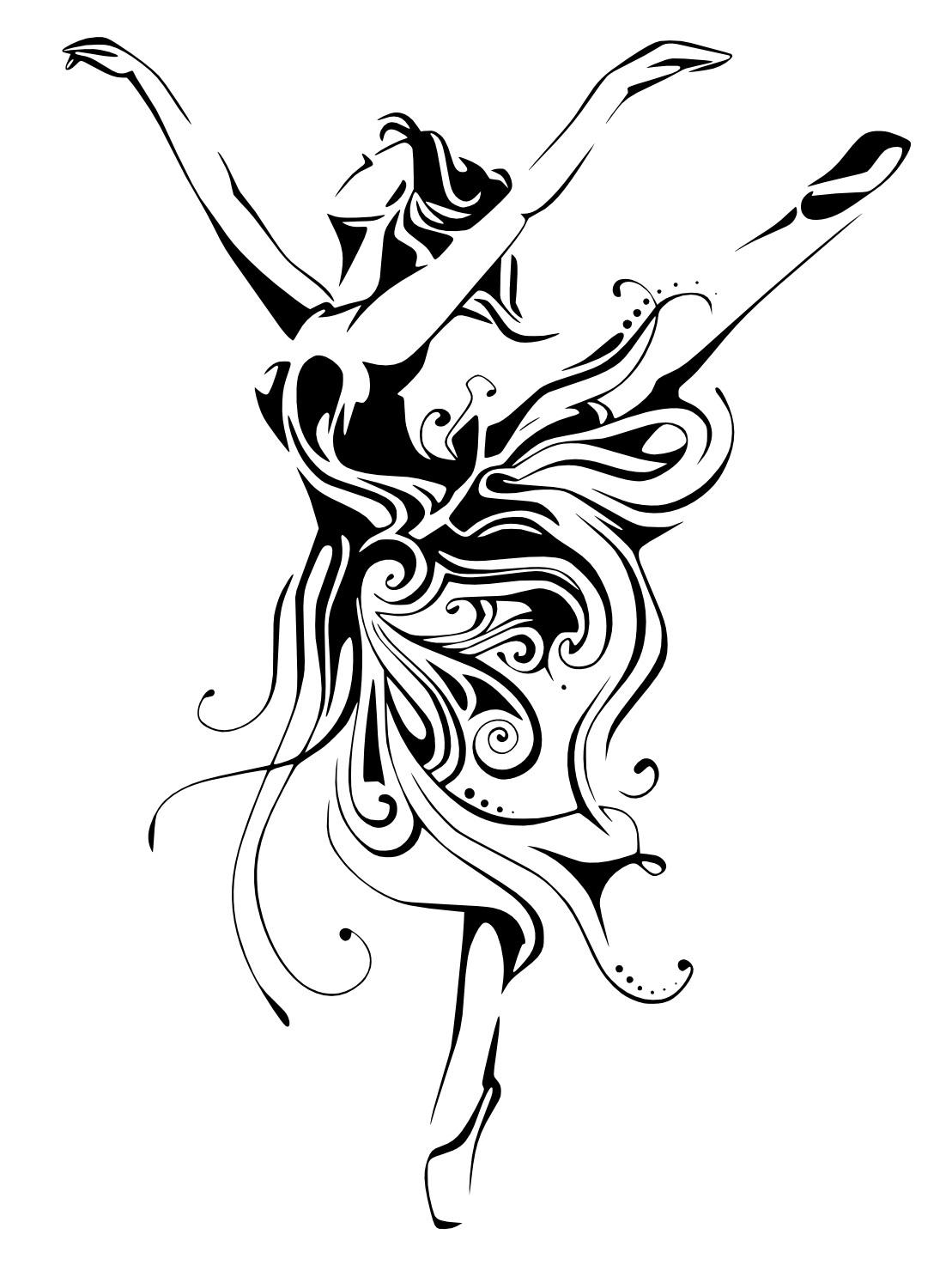 Ballerina Female Dancer Free Vector