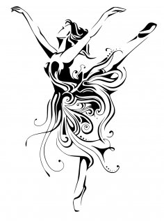 Ballerina Female Dancer Free Vector