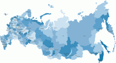 Russia Map Highly Detailed Vector