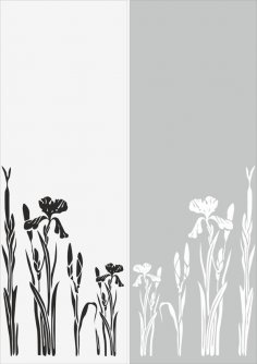 Garden Sandblast Pattern Free Vector