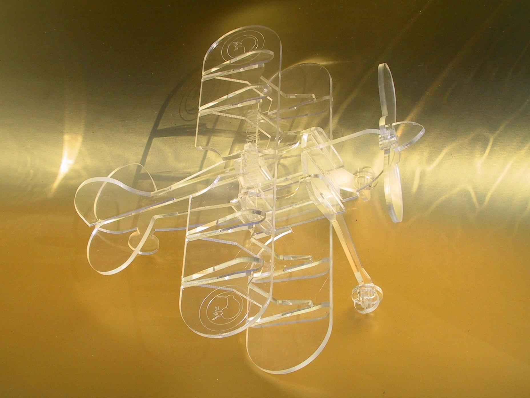 Biplane Laser Cut Free Vector