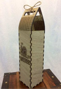 Wine Box Laser Cut Plywood 4mm PDF File