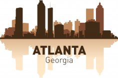 Atlanta Skyline Free Vector