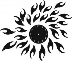 Sun Clock Vector Art jpg Image