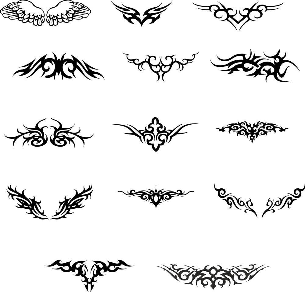 Wings Tattoo Vector set CDR File