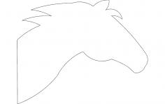 Horse Head Silhouette dxf File