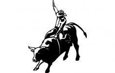 Bull Rider dxf File