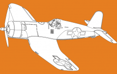 Single Seater Plane dxf File