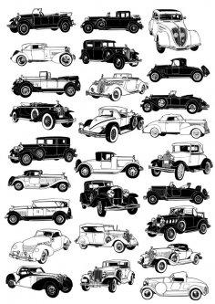 Vintage car vectors Free Vector