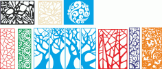 Tree style decorative lattice for cnc Free Vector