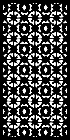 Floral Mosaic Vector Pattern Free Vector
