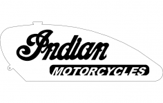 Indian Motorcycles Gas Tank dxf File