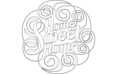 Home sweet home dxf File