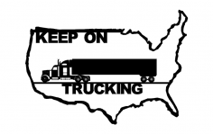 Truck Drivers Across America dxf File