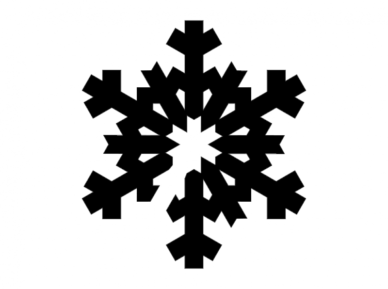 Snowflake Silhouettes dxf File