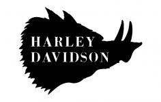 Harley hog dxf File