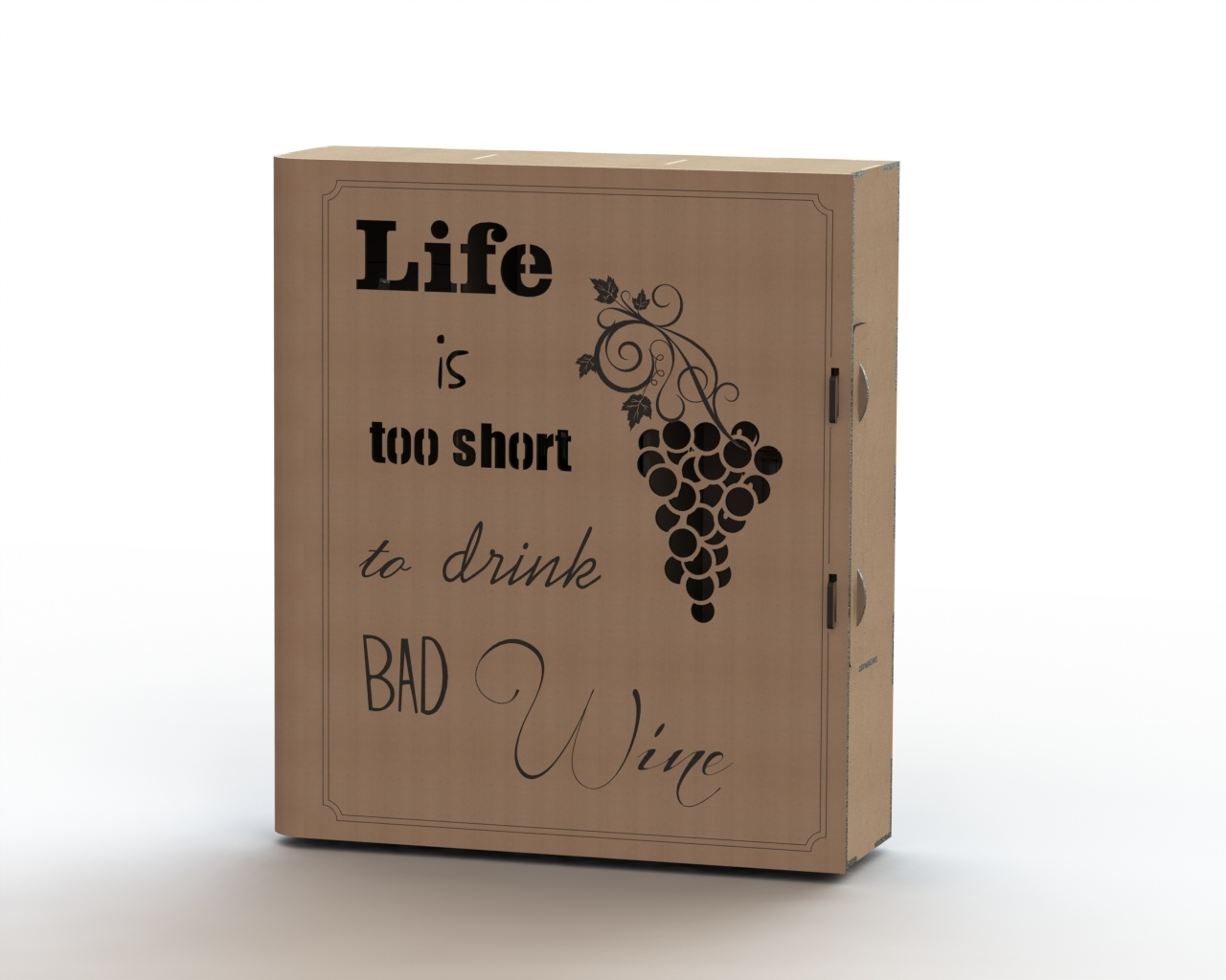 Laser cut wine box plans Free Vector