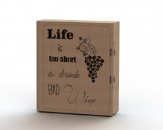 Laser cut wine box plans CDR File