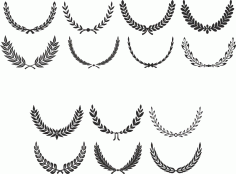 Digital Laurel Wreath laurel Clip Art Free Vector