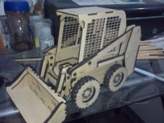 Mini Loader 3D Puzzle Pattern Lasercut Free Vector