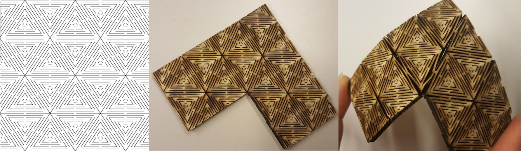 Geodesic Pattern Living Hinge Template for Laser Cut DXF File