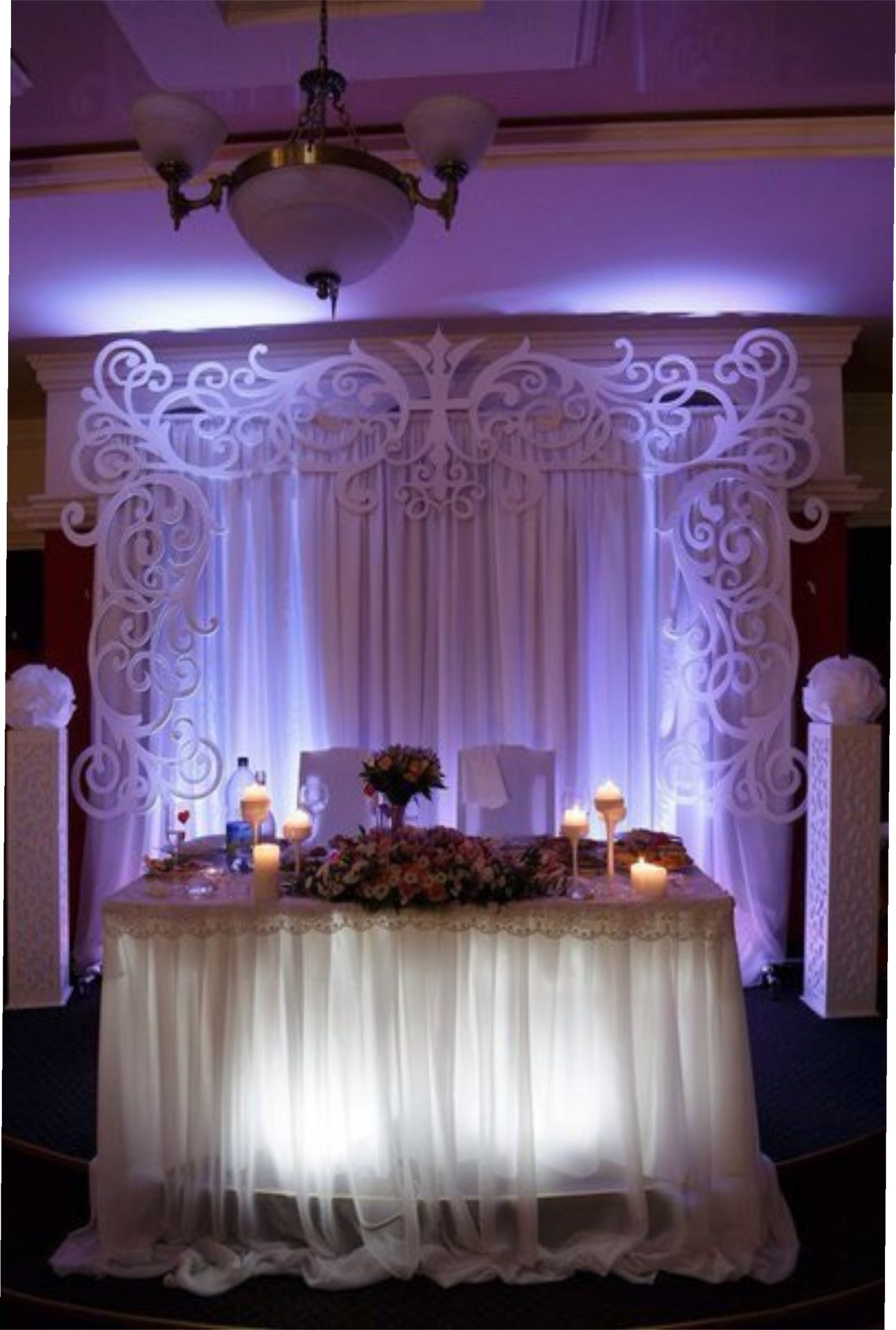 Wedding Settee Back Decorations Free Vector