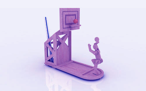 Basketball Pen Holder Stand 3mm Free Vector