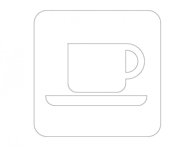 Coffee Road Sign dxf File