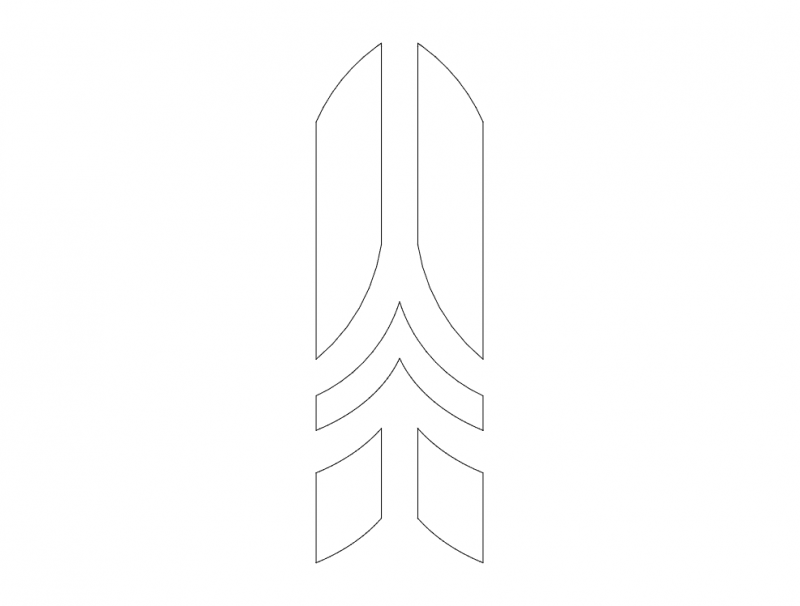 Mdf Door Design 24 dxf File