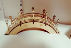 Arched Foot Bridge dxf File