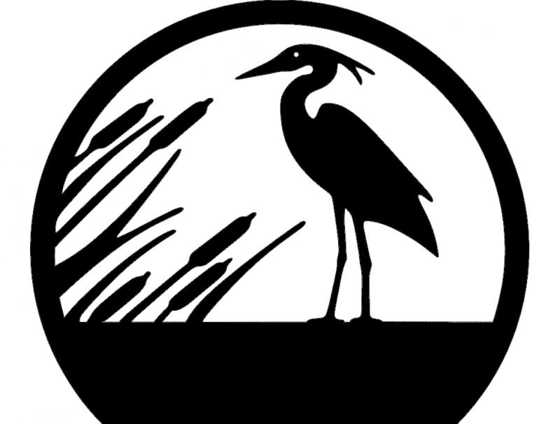 Garça (Heron) dxf File
