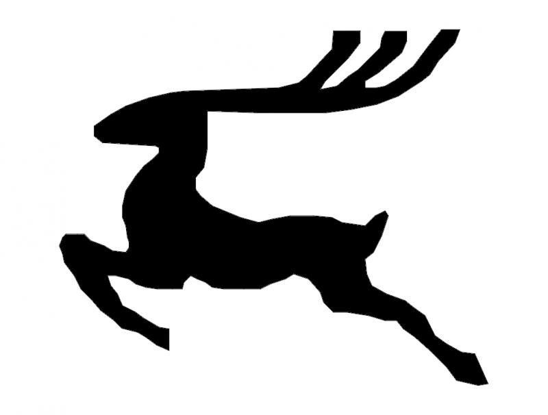 Reindeer dxf File