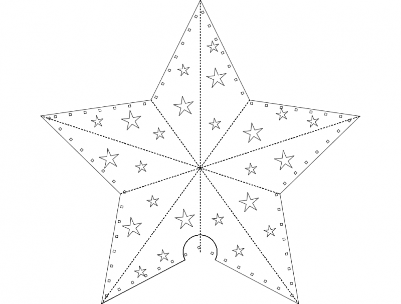 Paper Star dxf File