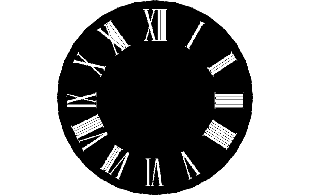 Wall Clock Design dxf File Free Download - 3axis.co