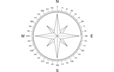 North Arrow Compass dxf File