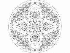 A Flor dxf File