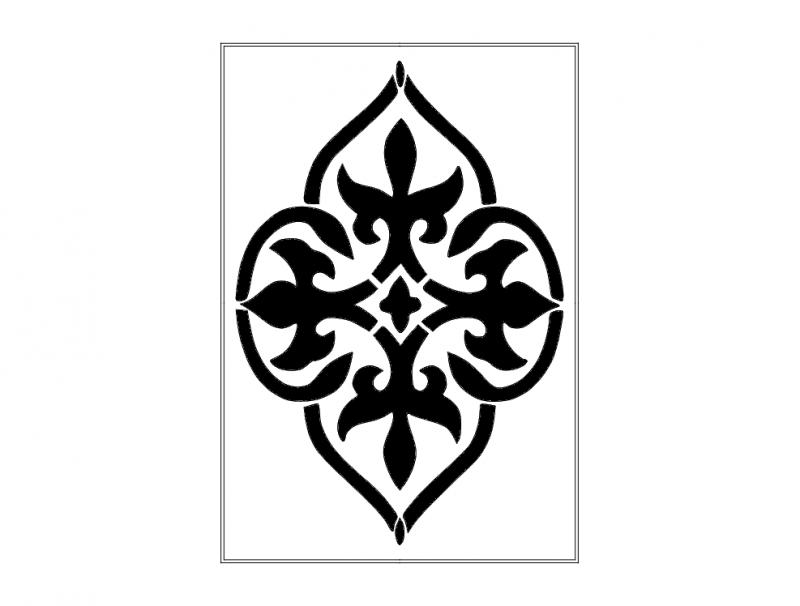 Damask design dxf File