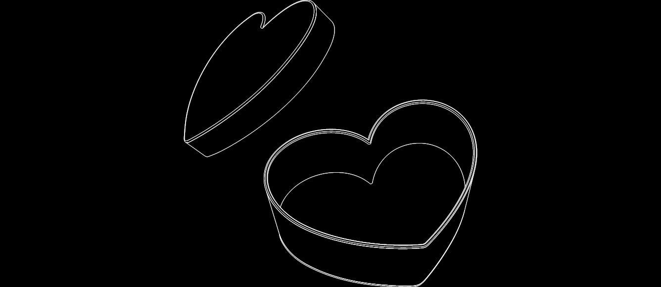 Heart box dxf File