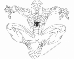 Spidey (Spider-Man) dxf File