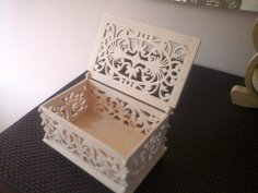 Box with Lid Scroll Saw Pattern PDF File