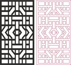 Abstract Geometric Pattern dxf File