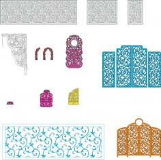 Wedding Screens Vectors Pack Free Vector