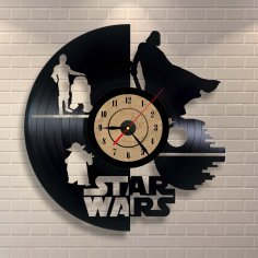 Vinyl Record Clock Star Wars Wall Decor CDR File
