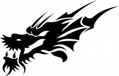 Tribal Dragon Tattoo Design Vector Free Vector