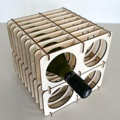 Poplar Wine Rack CDR File