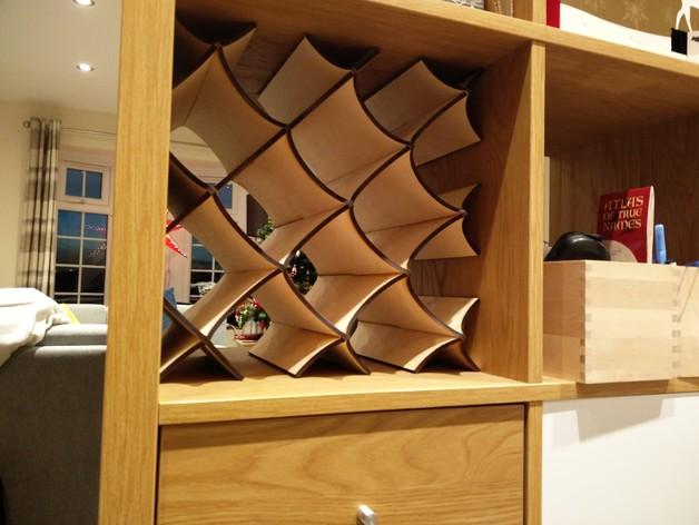 Wine Rack for IKEA KALLAX DXF File