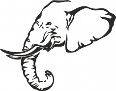 Elephant Stencil Free Vector