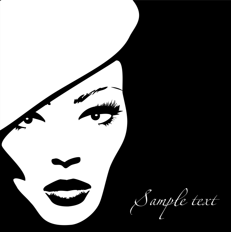 Woman Face Vector Illustration 4 Free Vector